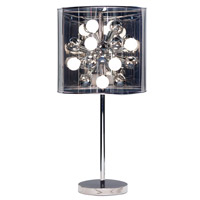 Starburst 29 inch 25 watt Steel Table Lamp Portable Light