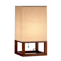 Adesso Crowley 1 Light Table Lantern in Light Walnut 3316-15