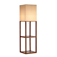 Adesso Crowley 1 Light Shelf Floor Lamp in Light Walnut 3317-15