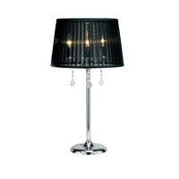 Adesso Cabaret 3 Light Table Lamp in Chrome 3356-22