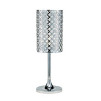 Adesso Glitz 1 Light Table Lamp in Chrome 3360-22