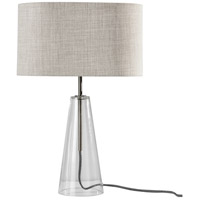 Glass and Steel Table Lamps