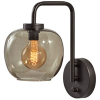 Adesso 3434-01 Ashton 1 Light 8 inch Matte Black Wall Lamp Wall Light
