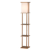 Adesso Barbery Shelf Floor Lamp in Oak 3451-16