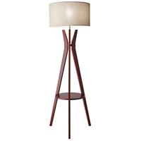 Adesso 3471-15 Bedford 60 inch 150 watt Solid Walnut Wood Floor Lamp Portable Light