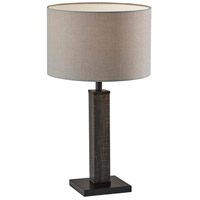 Adesso 3497-01 Kona 28 inch 100 watt MDF with Black Washed Wood Veneer & Black Metal Table Lamp Portable Light