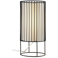 Adesso 3522-01 Vaughn 15 inch 60 watt Black Metal Wire Table Lantern Portable Light