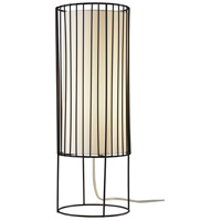 Adesso 3523-01 Vaughn 20 inch 60 watt Black Metal Wire Table Lantern Portable Light Tall