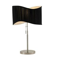 Adesso Symphony 1 Light Table Lamp in Satin Steel 3605-22 photo thumbnail
