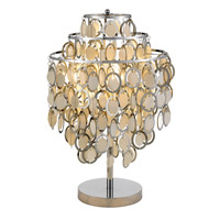 Adesso Shimmy 1 Light Table Lamp in Chrome 3636-22
