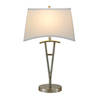 Adesso Taylor 1 Light Table Lamp in Satin Steel 3656-22