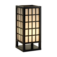 Adesso Middleton 1 Light Table Lantern in Black 3670-01
