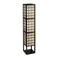 Adesso Middleton 3 Light Floor Lantern in Black 3671-01