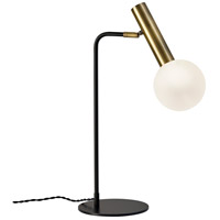 Sinclair 23 inch 7 watt Black and Antique Brass Desk Lamp Portable Light