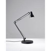 Quest Desk Lamp Portable Light in Black, with 2 USB Ports