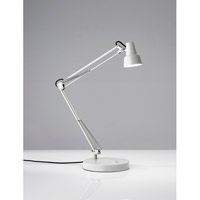 Adesso 3780-02 Quest Desk Lamp Portable Light in Off-White