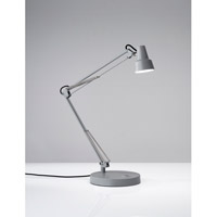 Quest Desk Lamp Portable Light in Grey, with 2 USB Ports