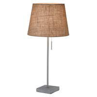 Adesso Mason 1 Light Table Lamp in Satin Steel 3811-18