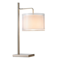 Adesso Harlow 1 Light Table Lamp in Satin Steel 3814-22
