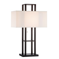 Adesso Lloyd 1 Light Table Lamp in Black 3823-01