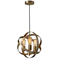 Donovan 3 Light 14 inch Antique Brass Pendant Ceiling Light