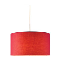 Adesso Harvest Drum Pendant in Red 4001-08
