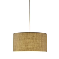 Harvest 1 Light 15 inch Burlap Drum Pendant Ceiling Light