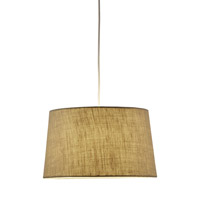 Adesso Harvest 1 Light Tapered Drum Pendant in Burlap 4002-18