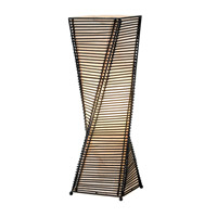 Adesso Stix 1 Light Table Lantern in Black 4045-01