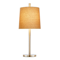 Adesso Jayne Table Lamp 1 Light in Satin Steel 4077-22 photo thumbnail