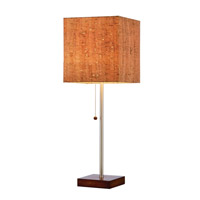 Adesso 4084-15 Sedona 22 inch 60 watt Walnut Table Lamp Portable Light photo thumbnail