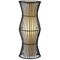 Aloha 25 inch 40 watt Black Rattan Table Lantern Portable Light