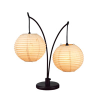 Adesso Spheres 2 Light Table Lamp in Antique Bronze 4100-26