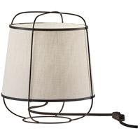 Adesso 4117-01 Daisy 11 inch 40 watt Matte Black Table Lantern Portable Light