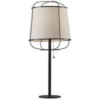 Adesso 4118-01 Daisy 25 inch 60 watt Matte Black Table Lamp Portable Light