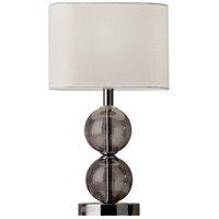Donna 18 inch 60 watt Polished Nickel and Smoked Glass Table Lamp Portable Light
