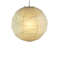 Orb 1 Light 14 inch Natural Small Pendant Ceiling Light, Plug-In
