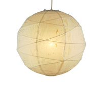 Orb 1 Light 19 inch Natural Medium Pendant Ceiling Light