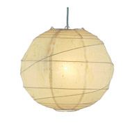 Orb 1 Light 24 inch Natural Large Pendant Ceiling Light