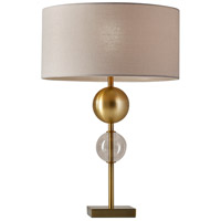 Chloe 24 inch 150 watt Antique Brass Table Lamp Portable Light