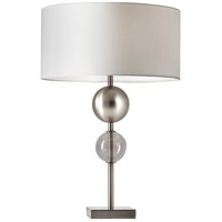 Chloe 24 inch 150 watt Brushed Steel Table Lamp Portable Light