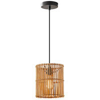 Cabana 1 Light 8 inch Dark Bronze Pendant Ceiling Light, Small