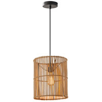 Cabana 1 Light 11 inch Dark Bronze Pendant Ceiling Light, Large
