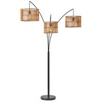 Adesso 4199-12 Cabana 82 inch 60 watt Dark Bronze Arc Floor Lamp Portable Light
