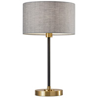 Adesso 4206-21 Bergen 24 inch 100 watt Black and Antique Brass Table Lamp Portable Light
