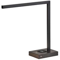 Adesso 4220-01 Aidan 16 inch 6 watt Matte Black Desk Lamp Portable Light with AdessoCharge