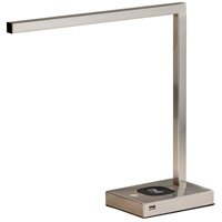 Aidan 16 inch 6 watt Brushed Steel Desk Lamp Portable Light, with AdessoCharge