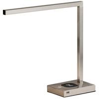 Adesso 4220-22 Aidan 16 inch 6 watt Brushed Steel Desk Lamp Portable Light with AdessoCharge