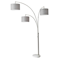 Bowery 83 inch 60 watt Brushed Steel Arc Lamp Portable Light