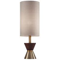 Adesso 4268-21 Carmen 23 inch 100 watt Antique Brass and Walnut Rubberwood Table Lamp Portable Light